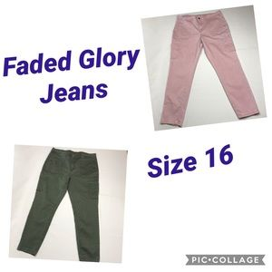 Faded Glory Jeans •Size 16